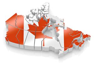 Flag - Canada Map 2