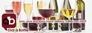 Dial a Bottle Beer Wine and Liquor Delivery 1-866-797-2424 banner